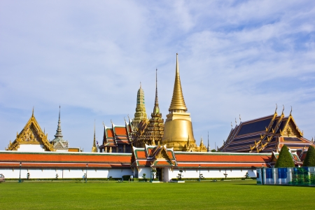 Wat Phra Kaew (Temple of the Emerald Buddha), Bangkok Thailand. photo