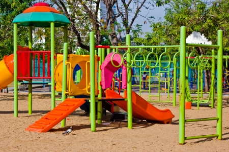 Colorful playground equipment at an outdoor park Stock Photo - 20192520