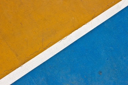 Tennis court white intersecting lines