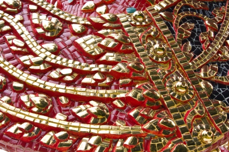 Native Thai style molding art photo