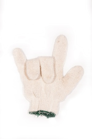 Gloves made of cotton isolated on a white background