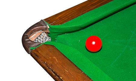 pool hall: snooker balls on the table Stock Photo