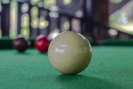 snooker balls: snooker balls on the table Stock Photo