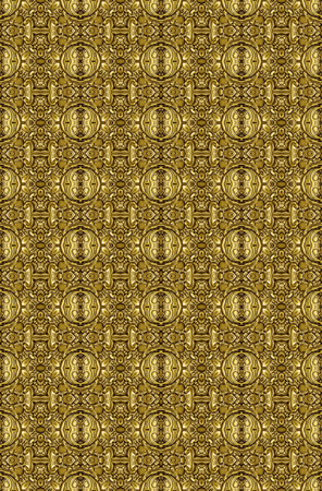 wallpaper copper gold golden: Golden vintage seamless pattern