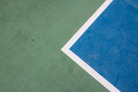 Tennis court white intersecting line Stock Photo