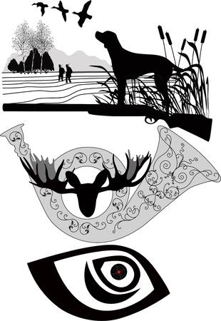 dieren jagen Vector Illustratie