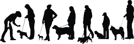 the watchman: exhibition of dogs animals display a vector it is isolated on a white background