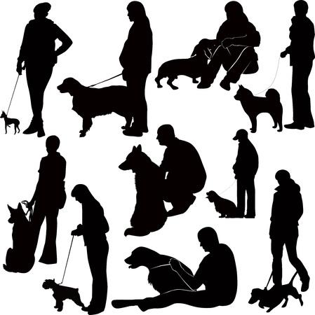 nemici: mostra di cani animali mostrare Vettoriali