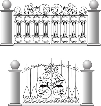 Fences of a lattice of collar shod products Vector