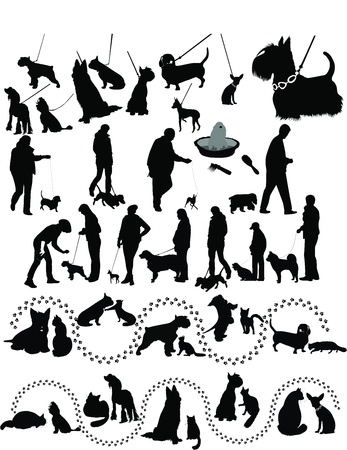 animals dogs cat  Vector
