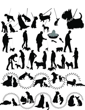 animals dogs cat Stock Vector - 14840225