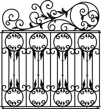 iron fence: forged product for the interior