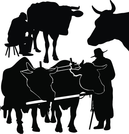 farmer from herds of the agriculture  Vector