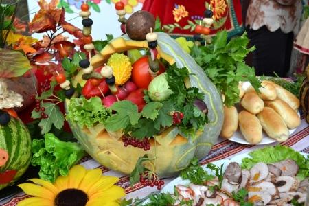 cuisine entertainment: Ukrainian kitchen table eating treats