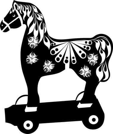 toy wooden horse Stock Vector - 17005637