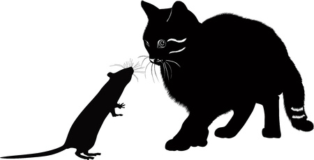 the cat and the rat meeting vector Stock Vector - 18880839