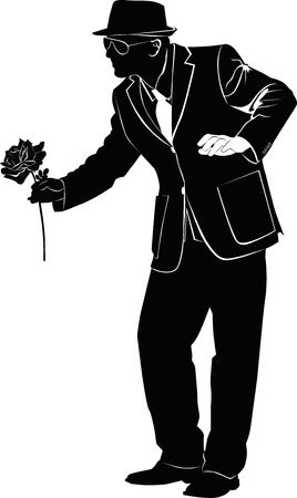 am a man which gives flowers Stock Vector - 20245199