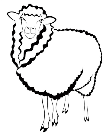 sheep ram lamb Vector