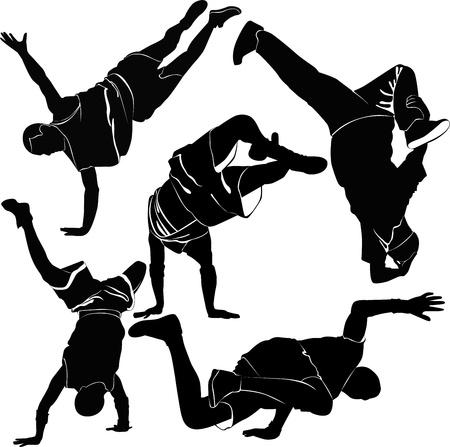 street dance: breakdance silhouette break dance