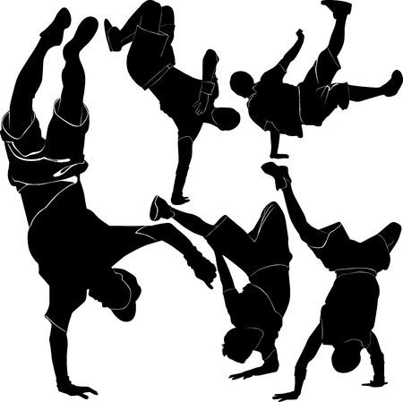 break dance: collection breakdance silhouette break dance