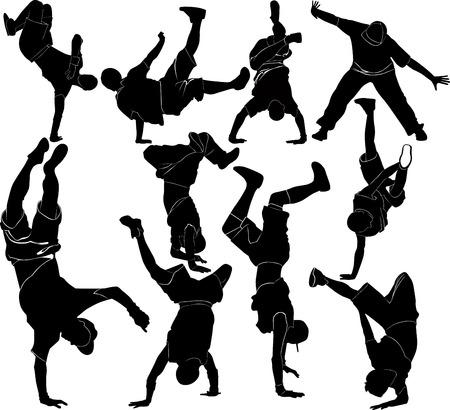 collection breakdance silhouette break dance