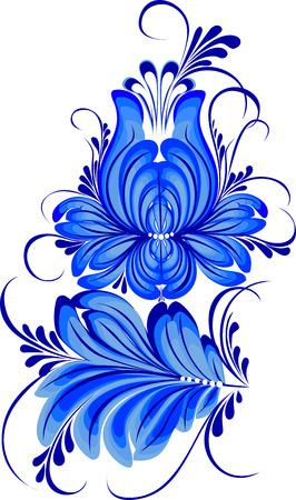 petrikovka: hand drawn illustration in Ukrainian folk style Illustration