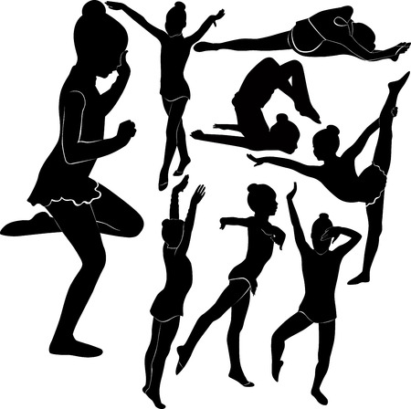 girl gymnast athlete Vector