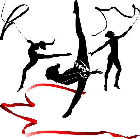 Muchacha del gimnasta atleta Foto de archivo - 29123939
