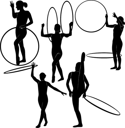 hula girl: gymnast with a hoop