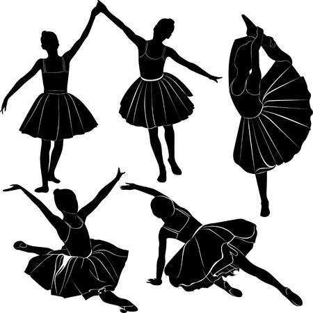 ballet dancer girl Vector