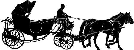 team of horses Vector