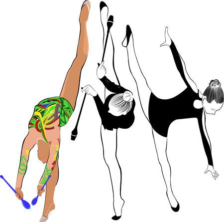 niña gimnasta atleta