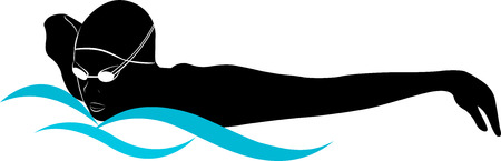 yarışma: sporcuları yüzücüler Çizim