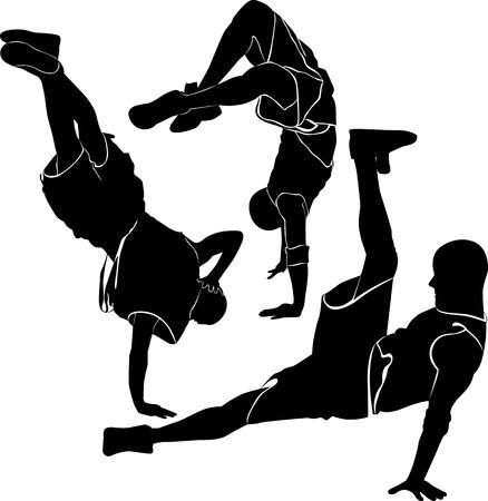 breakdance: breakdance silhouette break dance