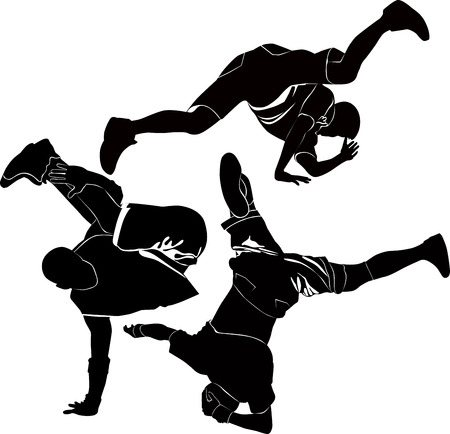 hip hop style: breakdance silhouette break dance