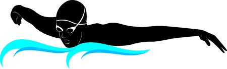donna farfalla: nuotatori atleti