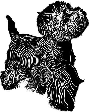 West Highland White Terrier Иллюстрация
