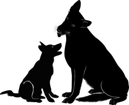 dog Shepherd Иллюстрация