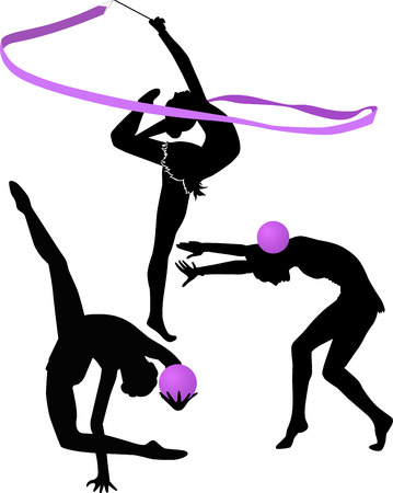 gymnastics: gymnast illustration