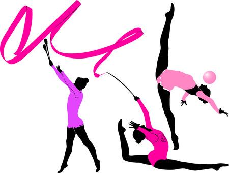 гимнастка иллюстрация