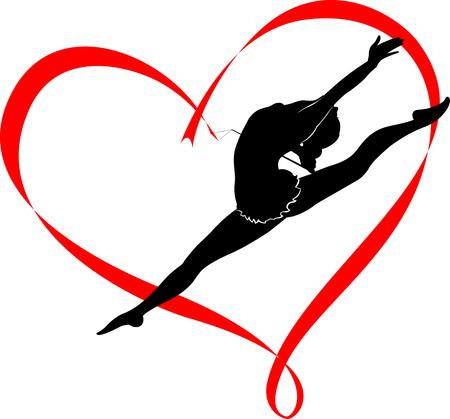 гимнастика логотип Иллюстрация