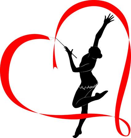 gymnastics silhouette: gymnastics logo Illustration