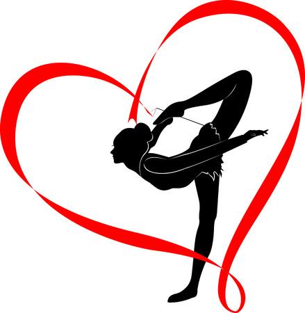 Gymnastique logo Banque d'images - 40238604