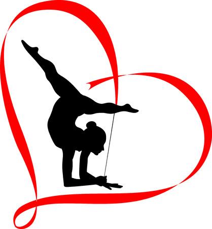 gymnastics icon  Ilustracja