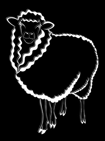 sheep logo Ilustrace