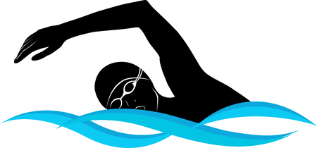 sports vector: swimmer athlete