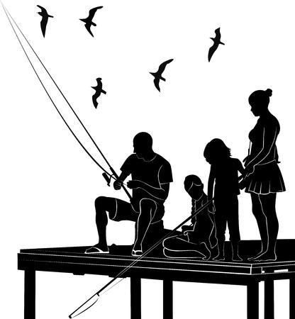 dad son: fishing family