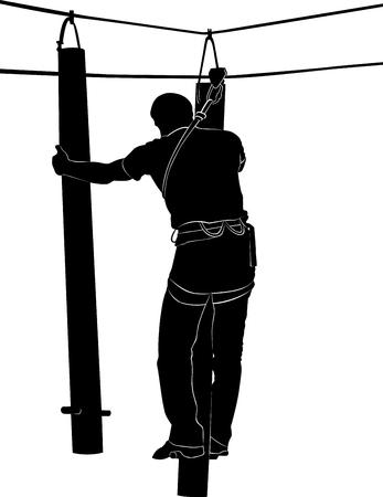 rope ladder: adventure park rope ladder
