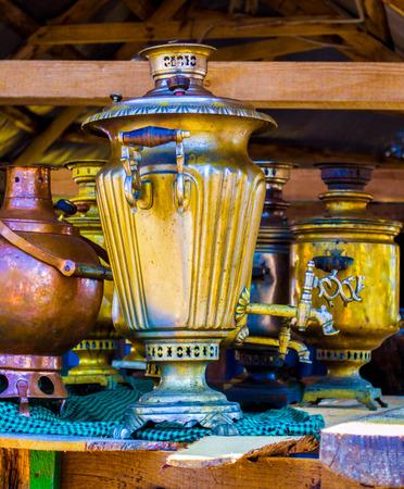 housewares: samovar. Vintage metal samovar.  housewares