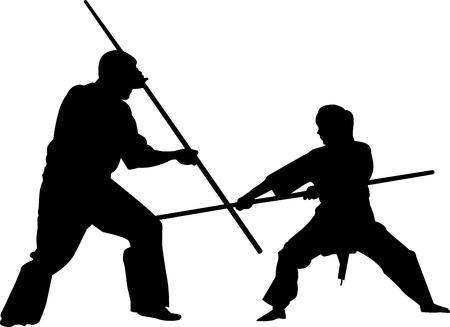 silhouette combative sports